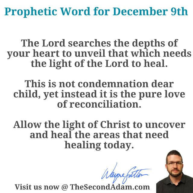dec 9 daily prophetic word