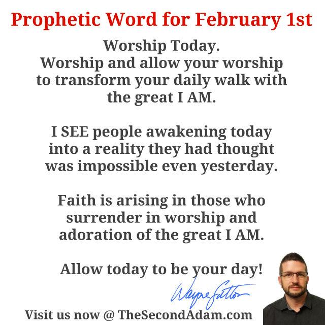 feb 1 daily prophetic word