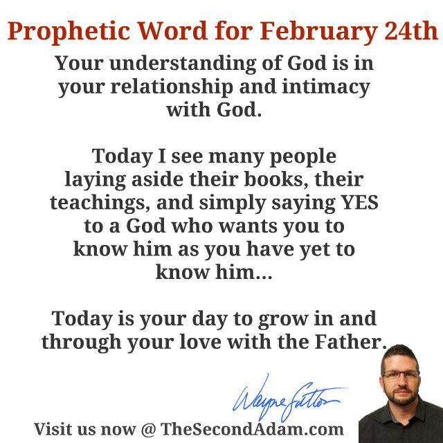 feb 24 daily prophetic word