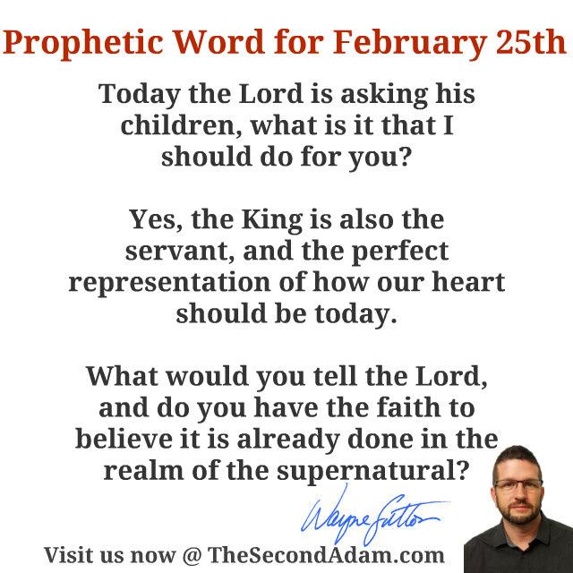 feb 25 daily prophetic word