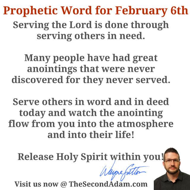 feb 6 daily prophetic word