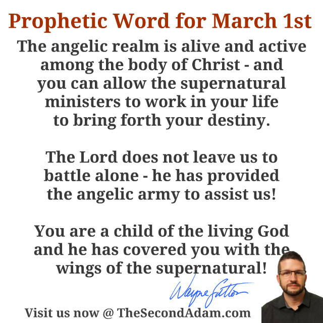 march 1 daily prophetic word