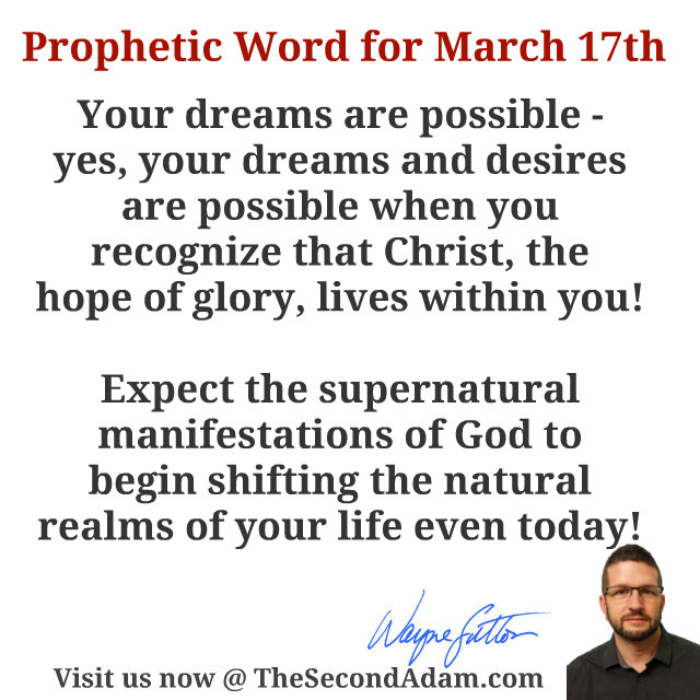 march 17 daily prophetic word