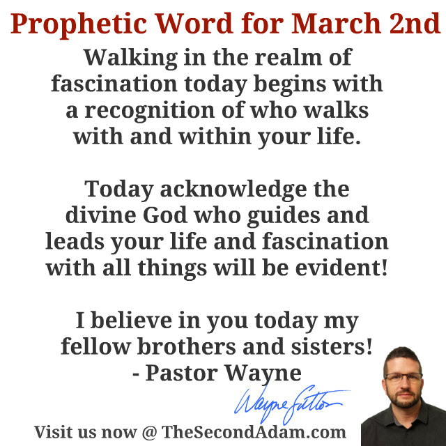 march 2 daily prophetic word