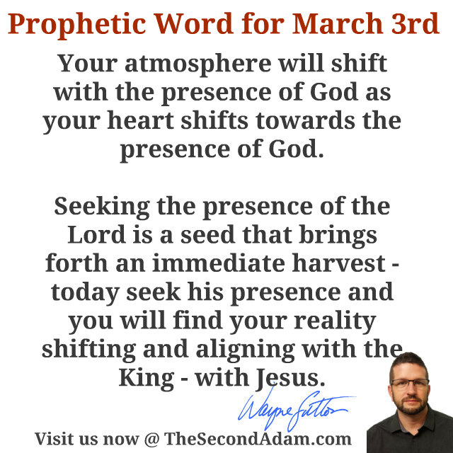 march 3 daily prophetic word