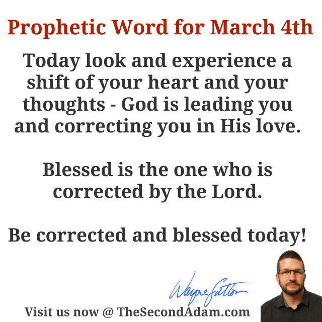 march 4 daily prophetic word