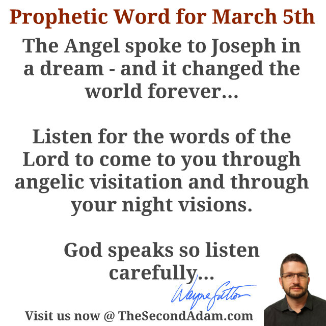 march 5 daily prophetic word