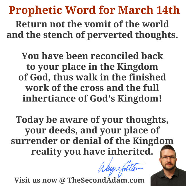 march14 daily prophetic word