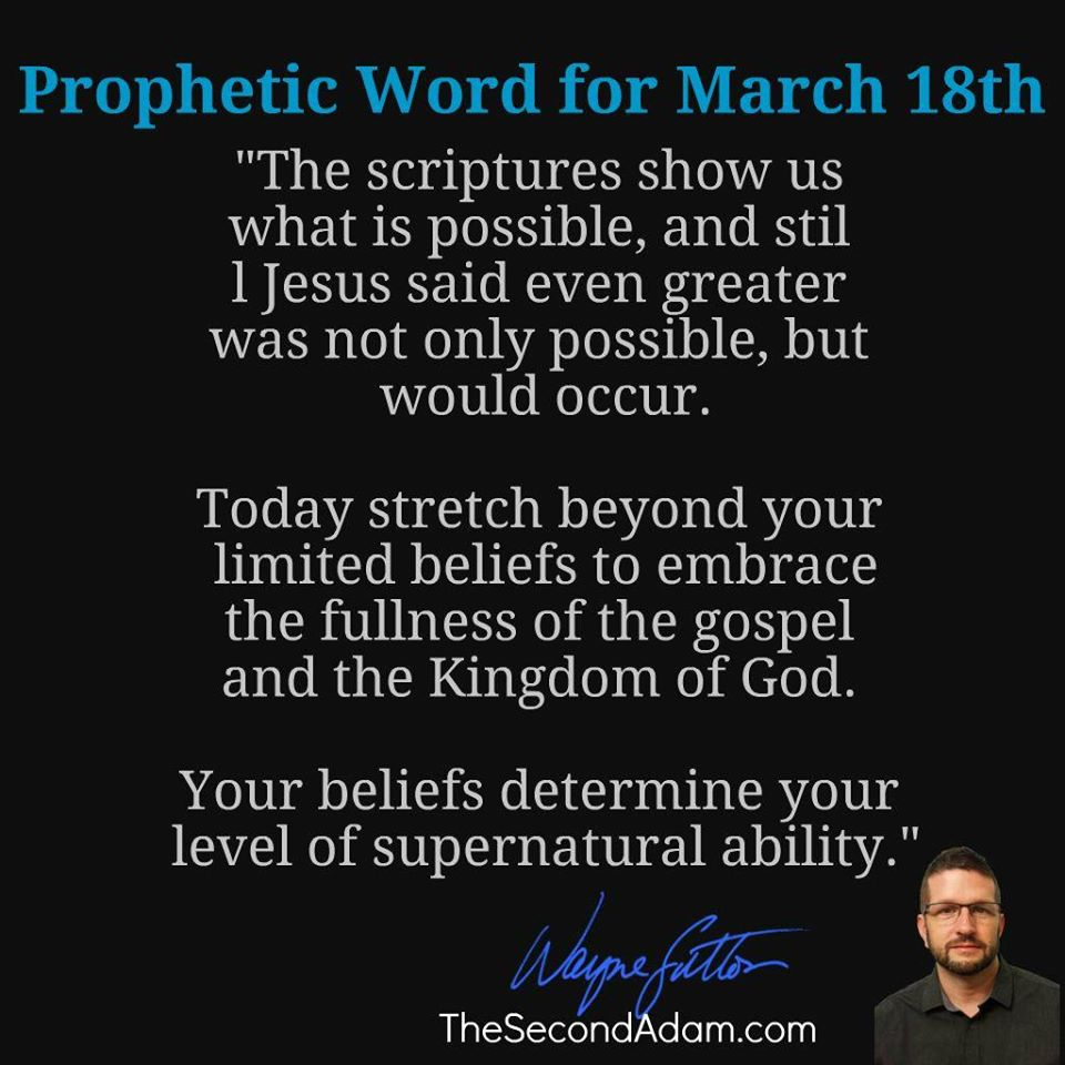 march18 daily prophetic word