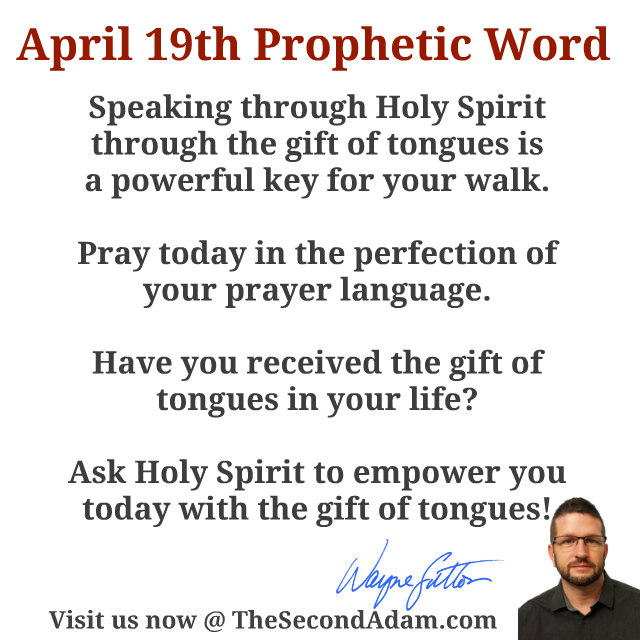 april 19 prophetic word