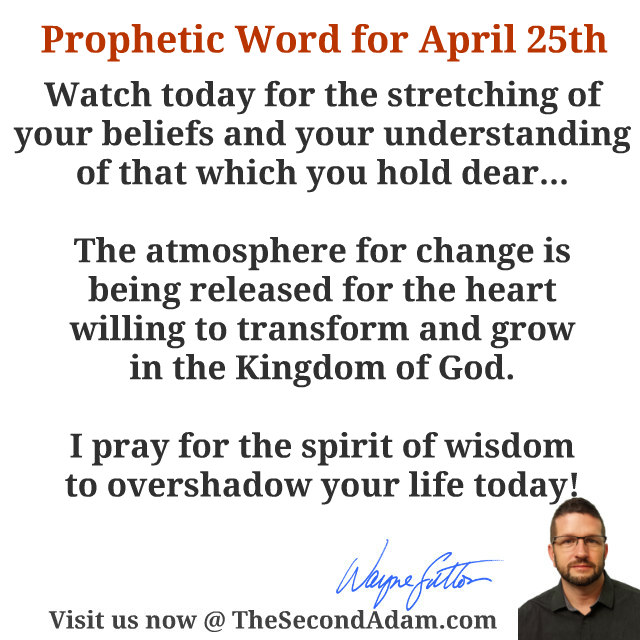 april 25 daily prophetic word