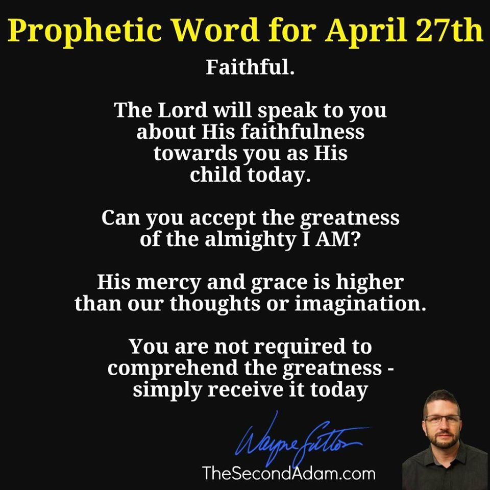 april 27 prophetic word