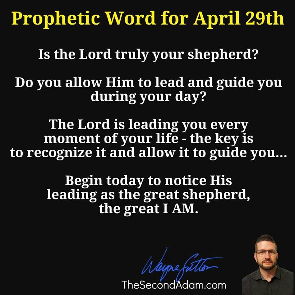 april 29 prophetic