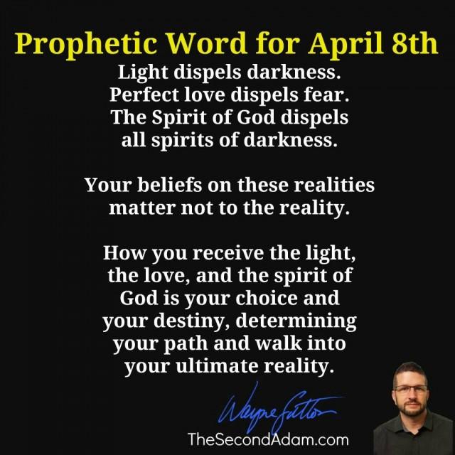 april 8 prophetic word