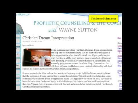 Christian Dream Interpretation!