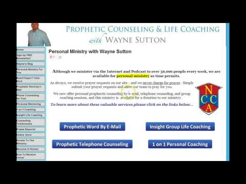 Personal Ministry with Wayne Sutton – Prophetic Ministry and More!