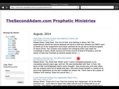 Supernatural Prophetic Ministry Newsletters!