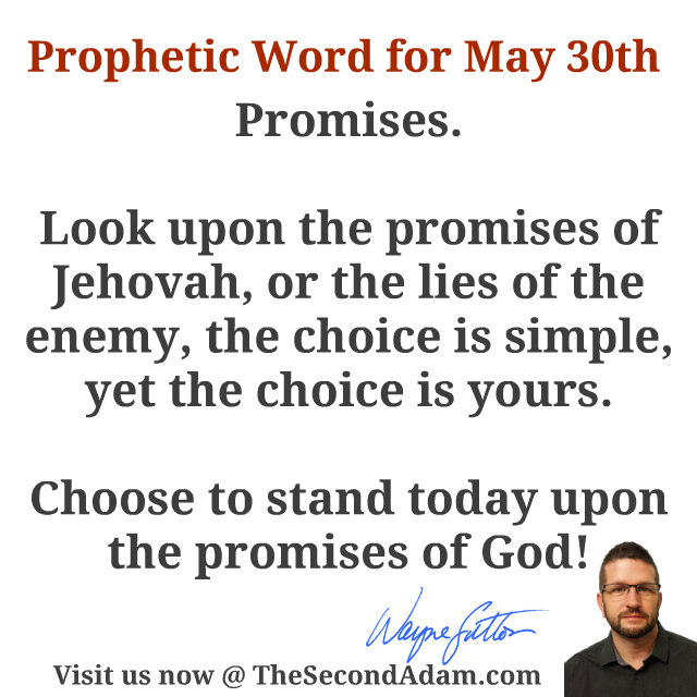 May 30 Daily Prophetic Word of God