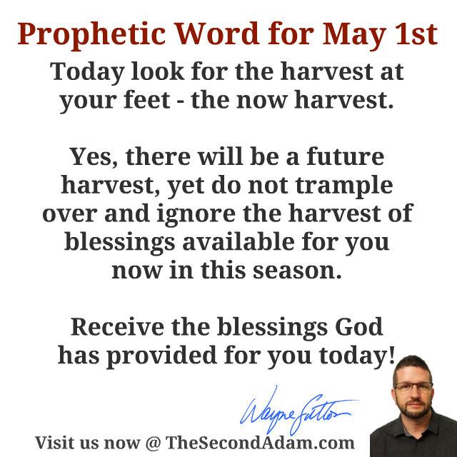 may 1 prophetic word