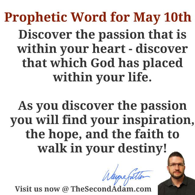 may 10 prophetic