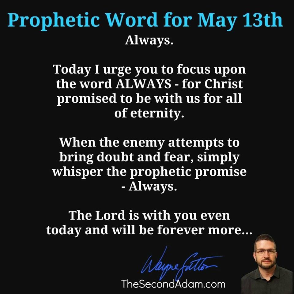 may 13 word of prophecy