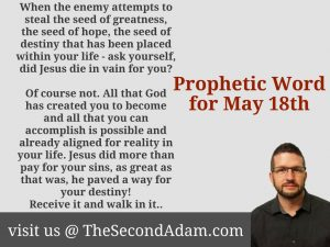 may 18 prophecy
