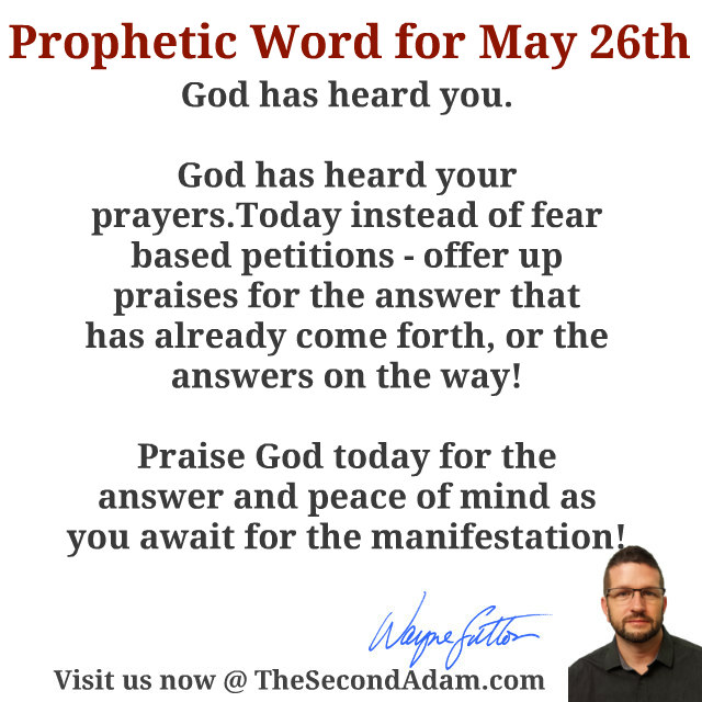 may 26 prophecy