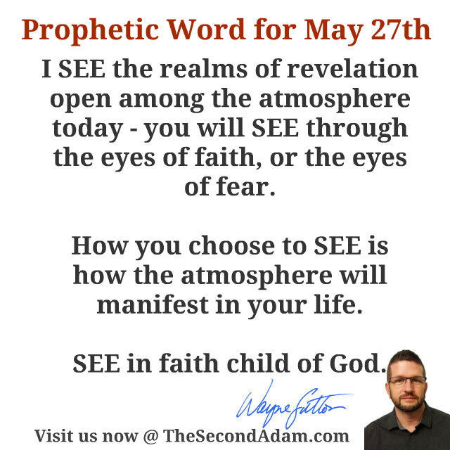 May 27 Daily Prophetic Word