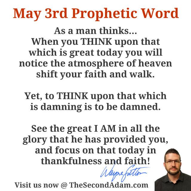 may 3 prophetic