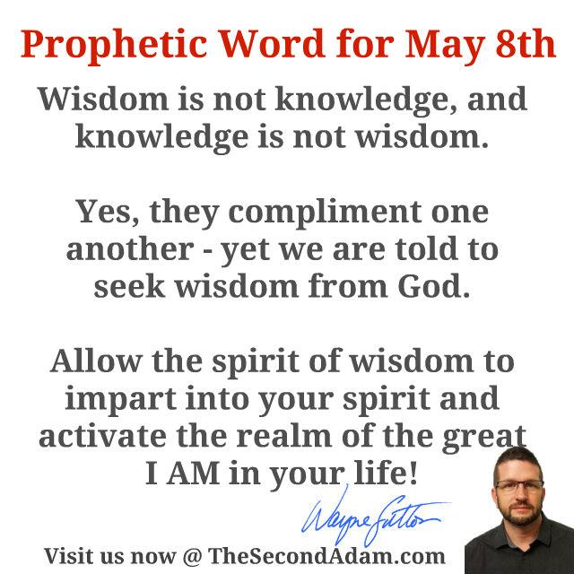 may 8 prophetic word