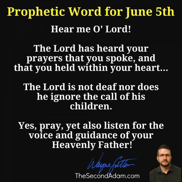 June 5 Daily Prophetic Word