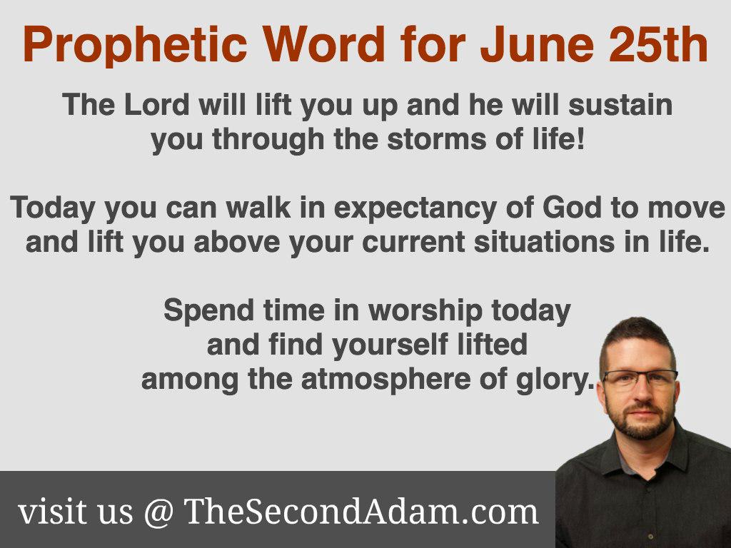 june 25 daily prophetic word