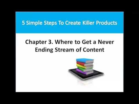 Information Product Creation Part 3 – Where to Get a Never Ending Stream of Content