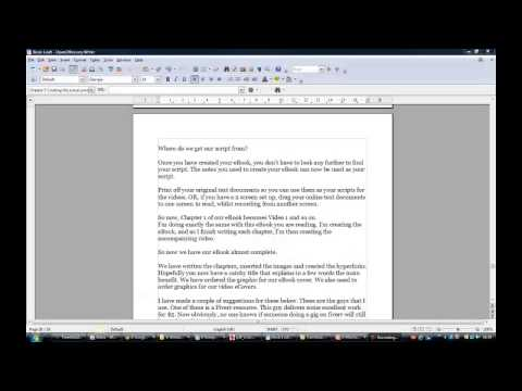 Information Product Creation Part 5 of 5 -Creating The Actual Product  – Prosper With Wayne