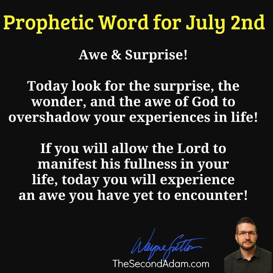 july 2 prophetic