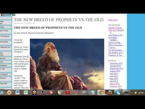 New Breed of Prophets vs The Old Prophets