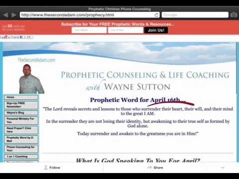 Prophetic Word for April 16th – Wayne Sutton