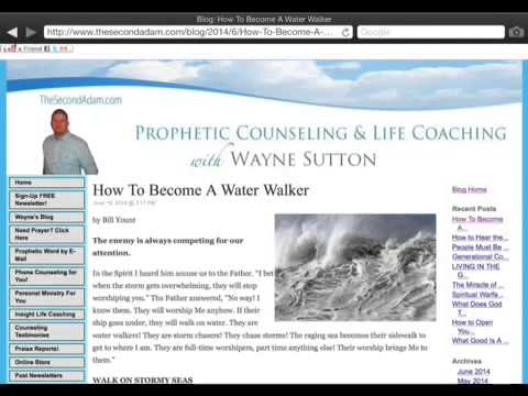 Walking On Water… Prophetic Article by Bill Yount