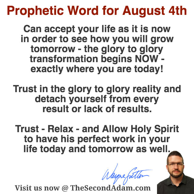 aug 4 daily prophetic word