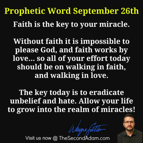 September 26 Daily Prophetic Word of God