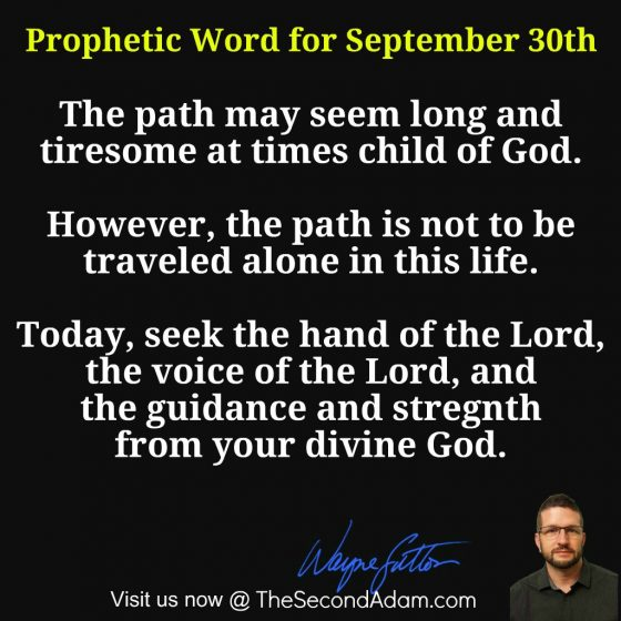 September 30 Daily Prophetic Word of God