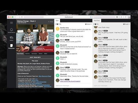 Church Online Platform Host Workspace