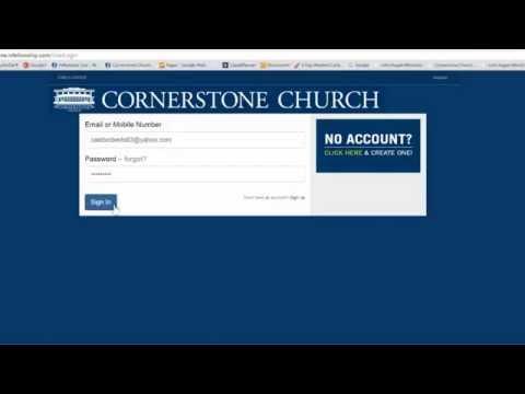 Cornerstone Church – Brand New Online Giving!