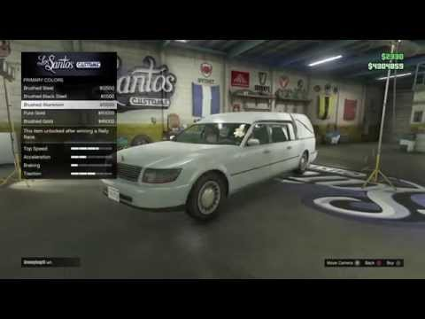 GTA 5 Online how to find church car (HEARSE)