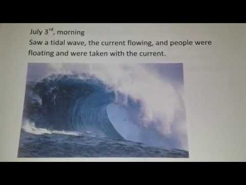 July 3, Vision from Jesus, Tsunami!  Asteroid!