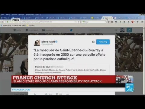 Online reactions to French church attack