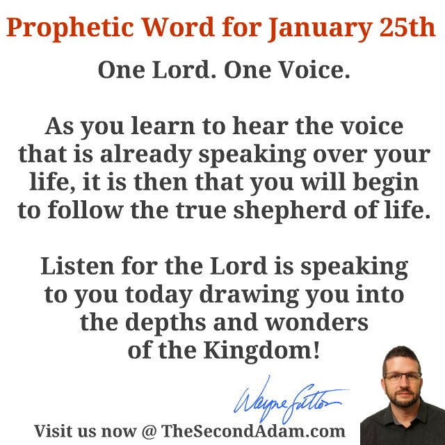 January 25 Daily Prophetic Word of God