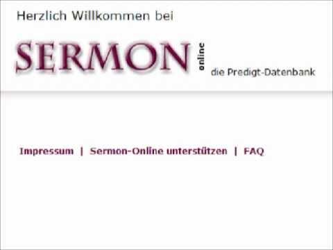 Internetseite – Sermon-Online.de die Predigt-Datenbank