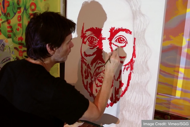Jim Carrey Painted The Face Of Christ, And It's Amazing