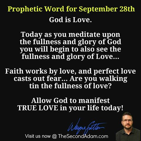 September 28th Daily Prophetic Word of God